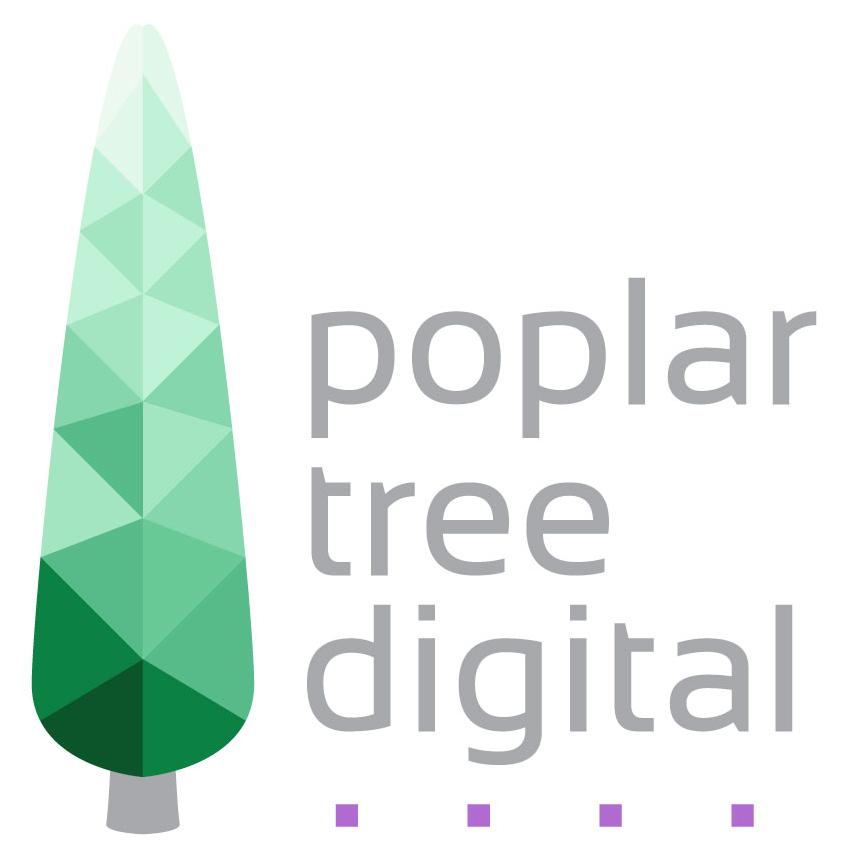 Poplar Tree Digital logo 2018